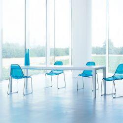 Table extensible hêtre teinté blanc EXTESO Pedrali
