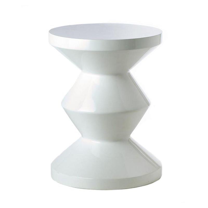 Tabouret table d'appoint coloris blanc  ZIG ZAG Pols Potten