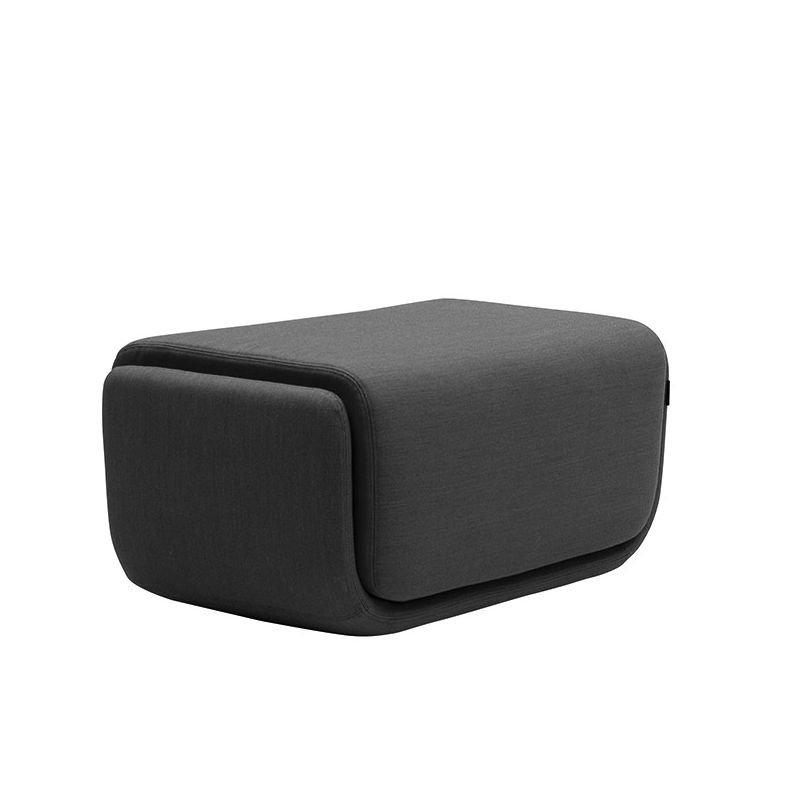 Pouf petit modèle BASKET tissu Felt graphite