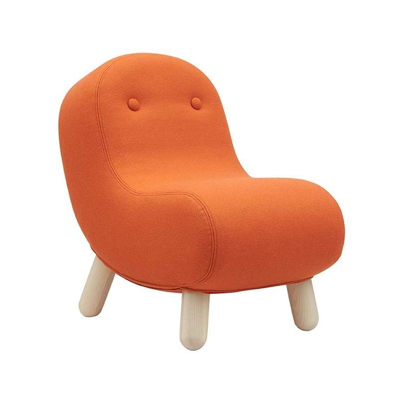 Mini-fauteuil tissu Felt orange BOB Softline