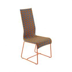 Chaise multicolore orange, piètement orange KENTE Varaschin
