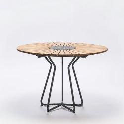 Table ronde en bambou & granit Ø 110 cm CIRCLE Houe