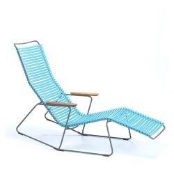 Chaise longue sunrocker coloris turquoise CLICK Houe