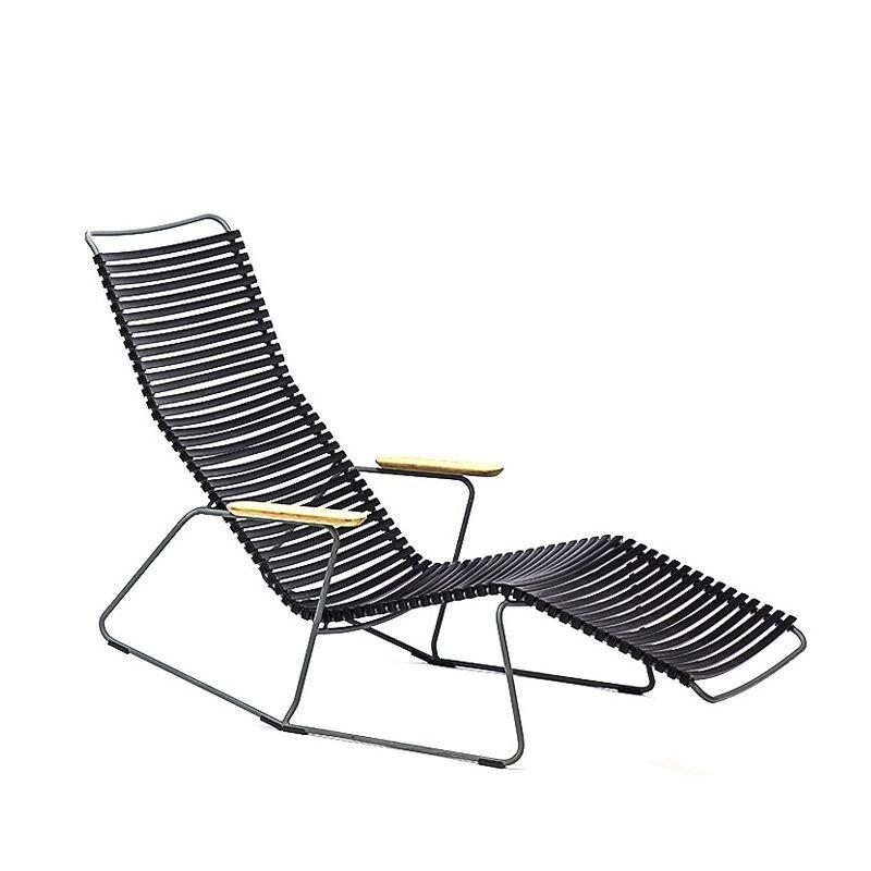 Chaise longue sunrocker coloris noir CLICK Houe