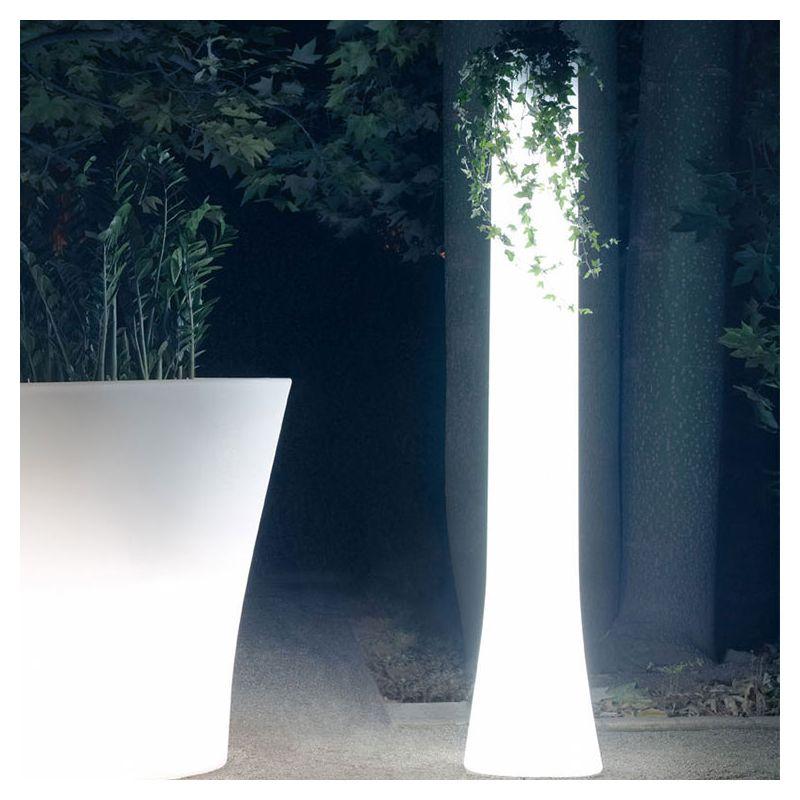 Vase pot lumineux lumière blanche BONES Vondom