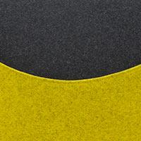 Côté moutarde-Felt 847, assise noire-Felt 610
