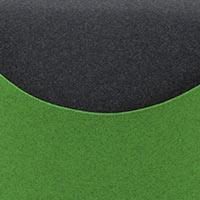 Côté vert-Felt 848, assise noire-Felt 610