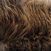Peau mouton brun ours