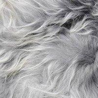 Peau mouton chiné gris clair