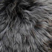 Peau mouton chiné gris foncé