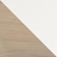 Chêne blanchi-Métal blanc