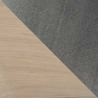 Chêne blanchi-Métal époxy transparent