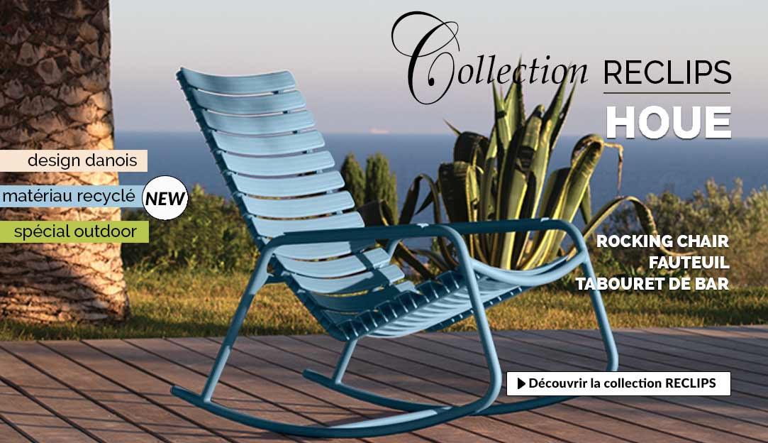 Découvrir les sièges de jardin ec-respoinsables Reclips Houe