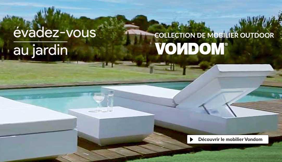 Découvrir tout le mobilier de jardin design de la marque espagnole Vondom