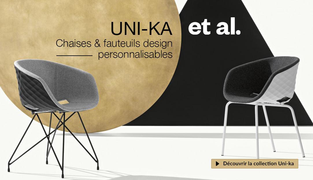 Chaises et fauteuils personnalisables Uni-ka de la marque italienne Et-al, design Francesco Geraci
